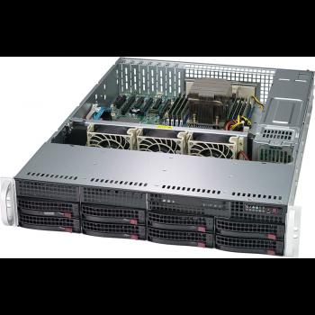 "Платформа Supermicro 2U AS-2013S-C0R, Один процессор AMD Epyc 7002, DDR4,  8x3.5"" SAS/SATA HDD, 2x1GBase-T"