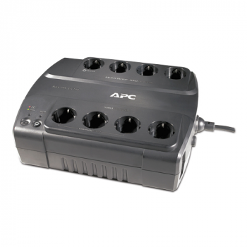 Источник бесперебойного питания APC Back-UPS ES с функцией энергосбережения, 8 розеток, 550 ВА, 230 В, соединители CEE 7/7