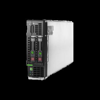 Блейд-сервер BL460c Gen8, 2 процессора Intel 8C E5-2670 2.60GHz, 64GB DRAM, P220i/512MB, 2x10Gb 554FLB