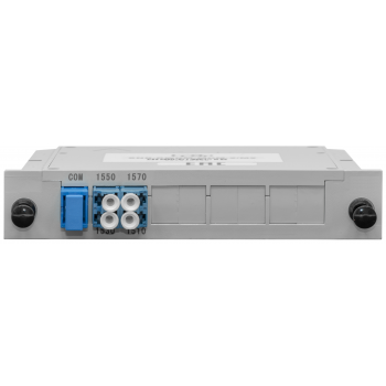 Мультиплексор B-OptiX CWDM одноволоконный 2-канальный, (trx:1550/1530, 1570/1510), в пластиковом слоте