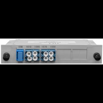 Мультиплексор B-OptiX CWDM одноволоконный 4-канальный (trx:1610-1550, 1470-1530), в пластиковом слоте