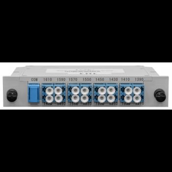 Мультиплексор B-OptiX CWDM одноволоконный 8-канальный (trx:1610-1390, 1470-1310), в пластиковом слоте