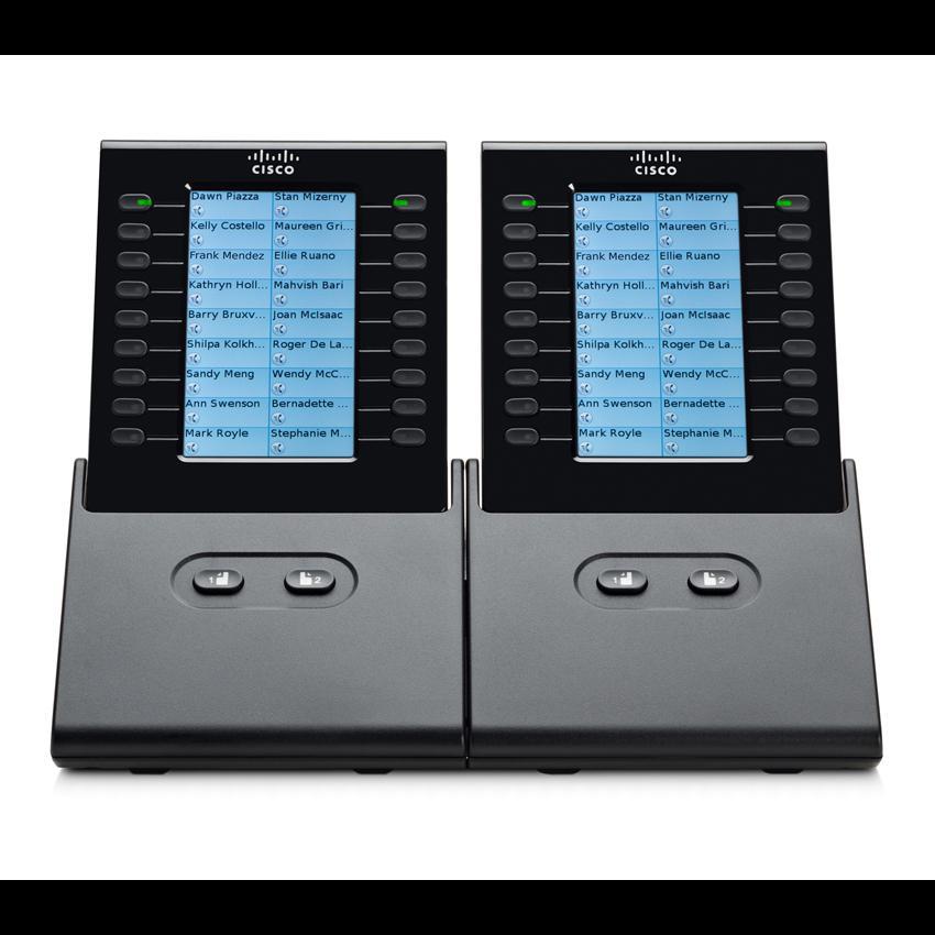 Блок расширения Cisco CP-CKEM-C для телефонных аппаратов Cisco CP-8900, CP-9900, черный