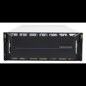 Система хранения данных Infortrend CS2060G (1xCtrl, до 60xHDD, 2xSAS12G внеш., 4x16GB, 4x10G портов iSCSI)