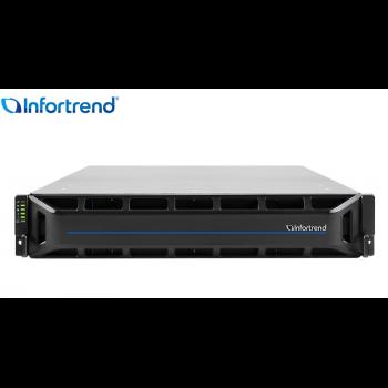 Система хранения данных Infortrend CS4025G (1xCtrl, до 25xHDD, 2xSAS12G внеш. порт, 4x16GB, 4x10G порта iSCSI)