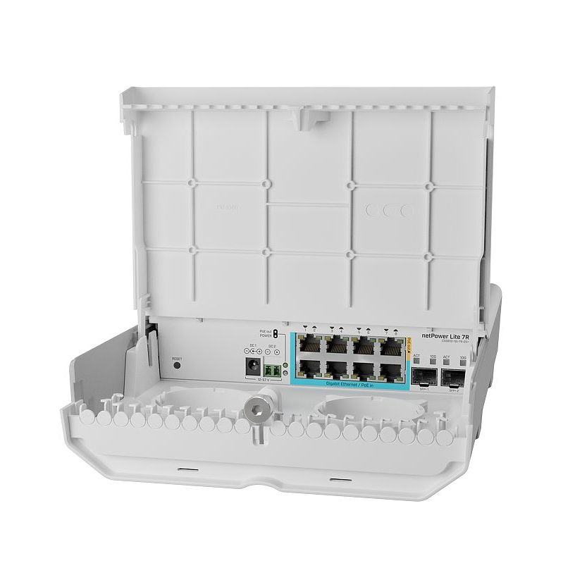 Коммутатор Cloud Smart Switch Mikrotik CSS610-1Gi-7R-2S+OUT is SwOS