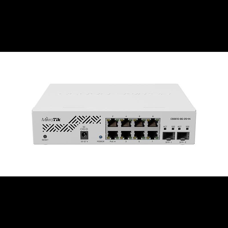 Коммутатор Cloud Smart Switch Mikrotik CSS610-8G-2S+IN is SwOS