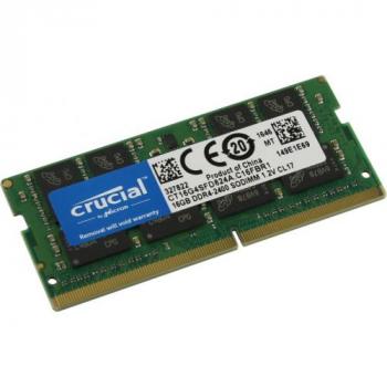 Память 16GB Crucial 2400MHz DDR4 ECC Unbuffered SODIMM 1Rx8