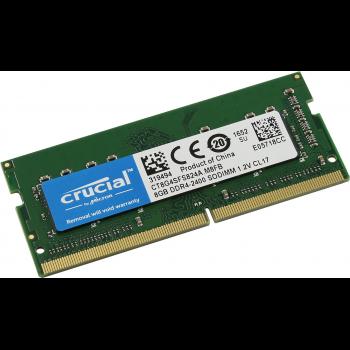 Память 8GB Crucial 2400MHz DDR4 ECC Unbuffered SODIMM 1Rx8