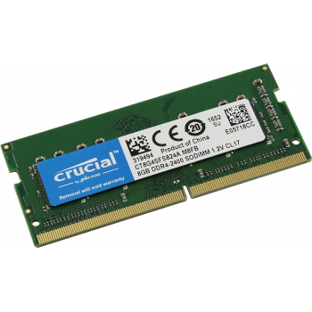Память 8GB Crucial 2400MHz DDR4 ECC Unbuffered SODIMM 1Rx8
