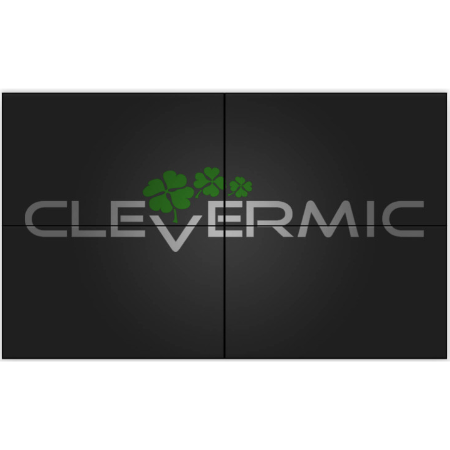 "Видеостена 2x2 CleverMic 8KDP-W65-3.5-500 (8K 130"" DisplayPort)"