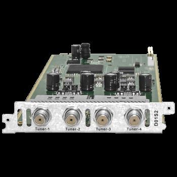 Модуль четырёхтюнерного DVB-S2 демодулятора поддержка BISS и T2-MI D01S2 для DCP-3000MF