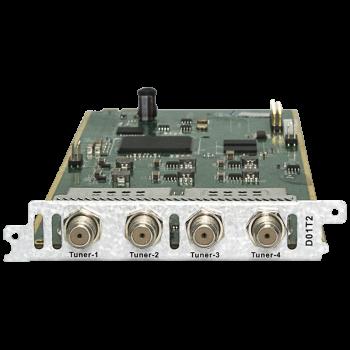 Модуль четырёхтюнерного DVB-C\T\T2 демодулятора D01T2 для DCP-3000MF
