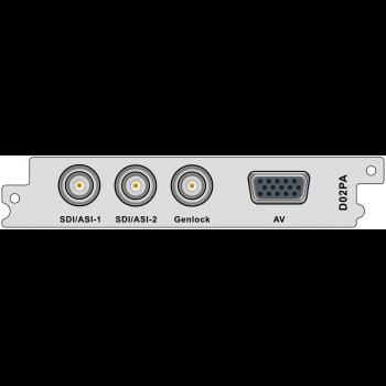 Модуль двухпоточного H.264/MPEG-2 декодера SDI и CVBS D02PA для DCP-3000MF