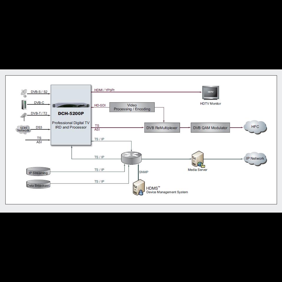 Приёмник цифровой PBI DCH-5200P-32T2