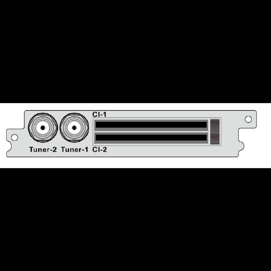 2-канальный демодулятор DVB-T2 / T / C, 2 * CI для  DCP-1000Pro