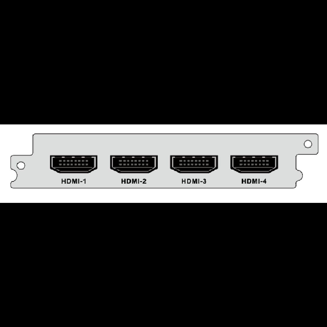 4-канальный HDMI  SD/HD H.264/H.265 энкодер  для  DCP-1000Pro