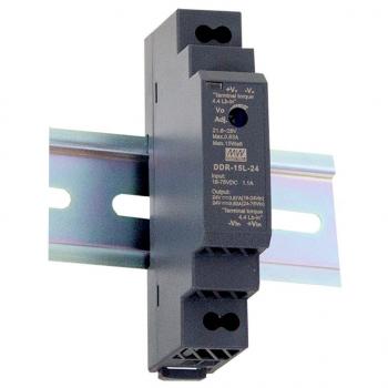 DDR-15L-24,DC/DC преобразователь, 15Вт, вход 18…75 В DC, выход 24В/0,63А, Mean Well