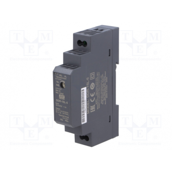DDR-15L-5, DC/DC преобразователь, 15Вт, вход 18-75В, выход 5В/3А Mean Well