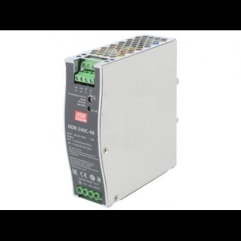 DDR-240C-48, DC/DC преобразователь, 60Вт, вход 33,6-67,2В, выход 48В/5А Mean Well