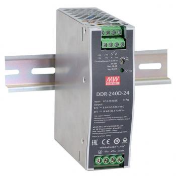 DDR-240D-24 Преобразователь: DC/DC; 240Вт; Uвх:67,2 - 154.В; Uвых:24ВDC; Iвых:10А, Mean Well