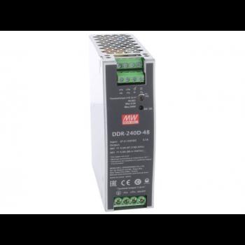 DDR-240D-48, DC/DC преобразователь, 60Вт, вход 67,2-154В, выход 48В/5А Mean Well