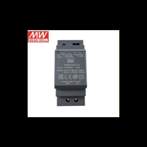DDR-30G-24, DC/DC преобразователь, 30Вт, вход 9-36В,выход 24В/1.25А Mean Well