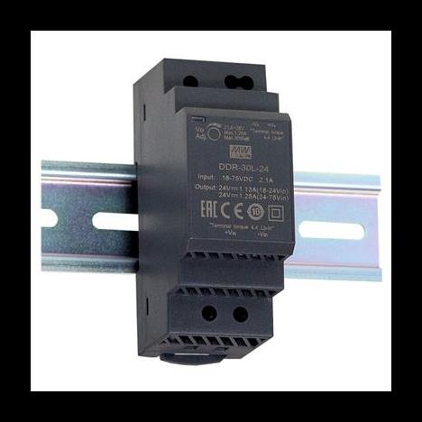 DDR-30L-24, DC/DC преобразователь, 30Вт, вход 18-75В,выход 24В/1.25А Mean Well