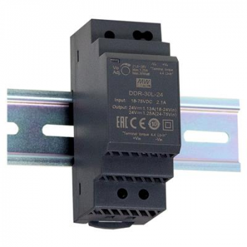 DDR-30L-24, DC/DC преобразователь, 30Вт, вход 18-75В, выход 24В/1,25А Mean Well