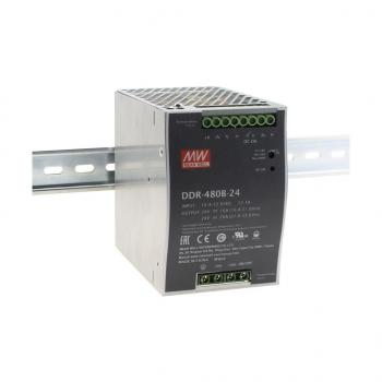 DDR-480B-24, DC/DC преобразователь, 480Вт, вход 16,8-33,6В, выход 12В/20А Mean Well