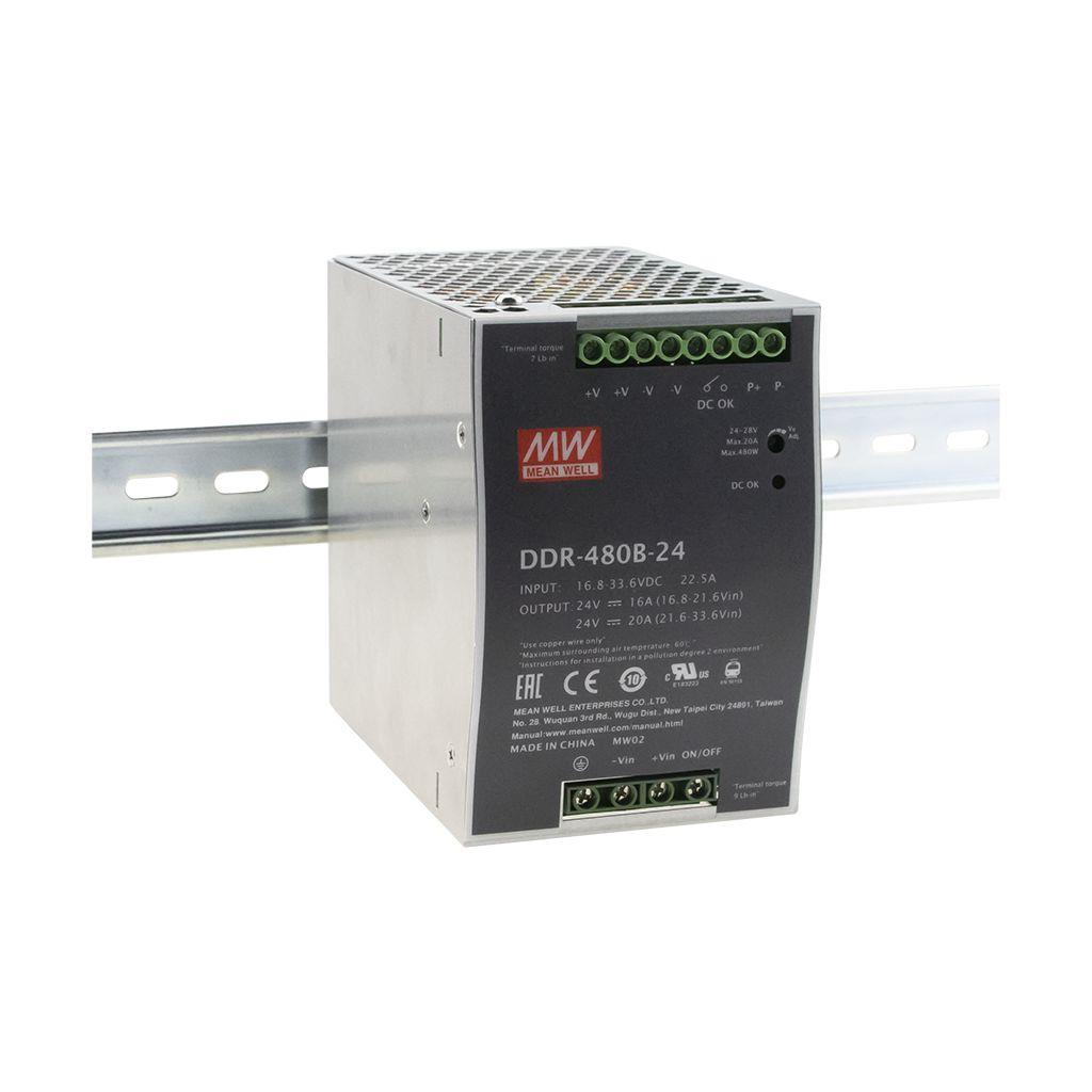DDR-480B-48 Преобразователь: DC/DC; 480Вт; Uвх:16,8-33,6В; Uвых:48ВDC; Iвых:10А, Mean Well