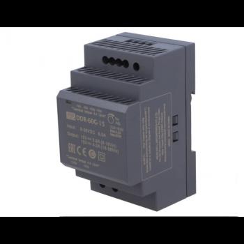 DDR-60G-15, DC/DC преобразователь, 60Вт, вход 9-36В,выход 15В/4А Mean Well