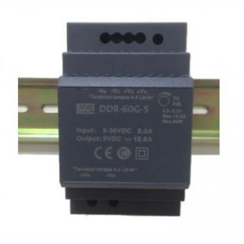 DDR-60G-5, DC/DC преобразователь, 60Вт, вход 9-36В, выход 5В/10,8А Mean Well