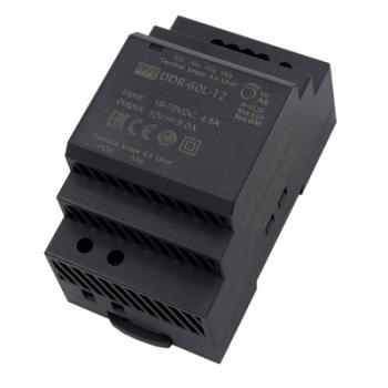 DDR-60L-12, DC/DC преобразователь, 60Вт, вход 18-75В,выход 12В/5А Mean Well