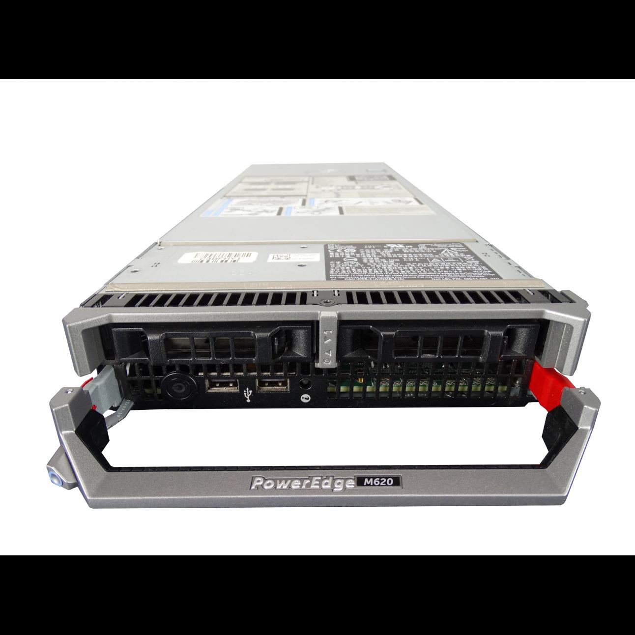 Блейд-сервер DELL PowerEdge M620, 2 процессора Intel 6C E5-2667 2.90GHz, 64GB DRAM, PERC H710, 2x10Gb 57810-k