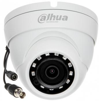 HDCVI купольная мини камера Dahua DH-HAC-HDW1220MP-0280B 2Мп, фикс. объектив 2.8мм, ИК до 30м, DWDR, DC12В, IP67