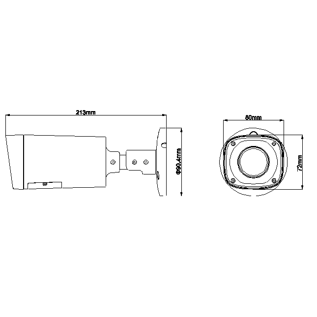 HDCVI уличная камера Dahua DH-HAC-HFW1100RP-VF 720p, 2.7-12мм, ИК до 30м, 12В