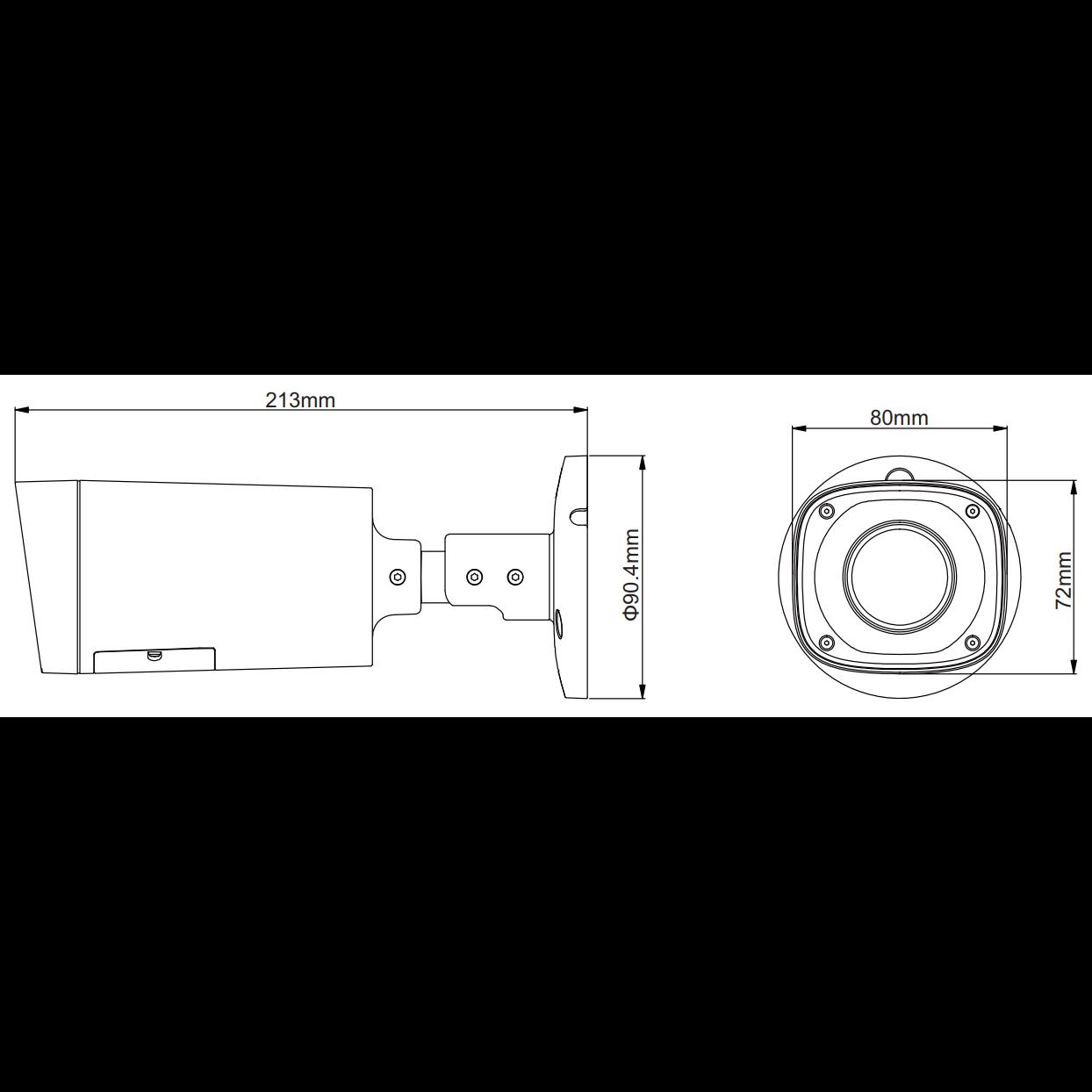 HDCVI уличная камера Dahua DH-HAC-HFW1200RP-VF 1080p, 2.7-12мм, ИК до 30м, 12В