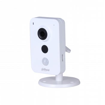 IP камера Dahua DH-IPC-K15AP миникуб 1.3Мп, объектив 2.8мм, PoE, 12В, microSD, микрофон/динамик, DWDR, ИК до 10м