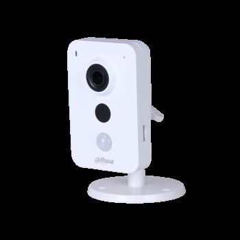 IP камера Dahua DH-IPC-K35AP миникуб 3Мп, объектив 2.8мм, PoE, 12В, microSD, микрофон/динамик, DWDR, ИК до 10м