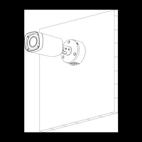 Монтажная коробка для уличных видеокамер DH-PFA135
