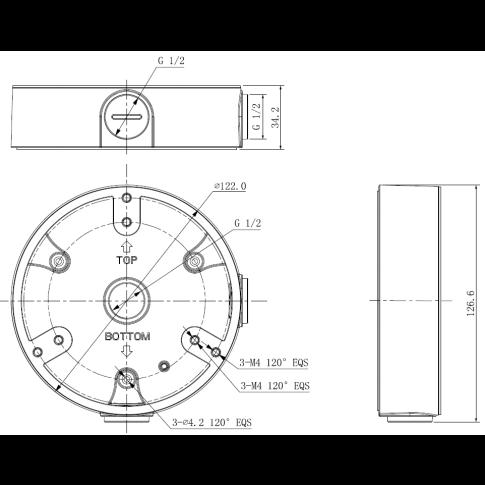 Монтажная коробка DH-PFA137 для купольных видеокамер DAHUA