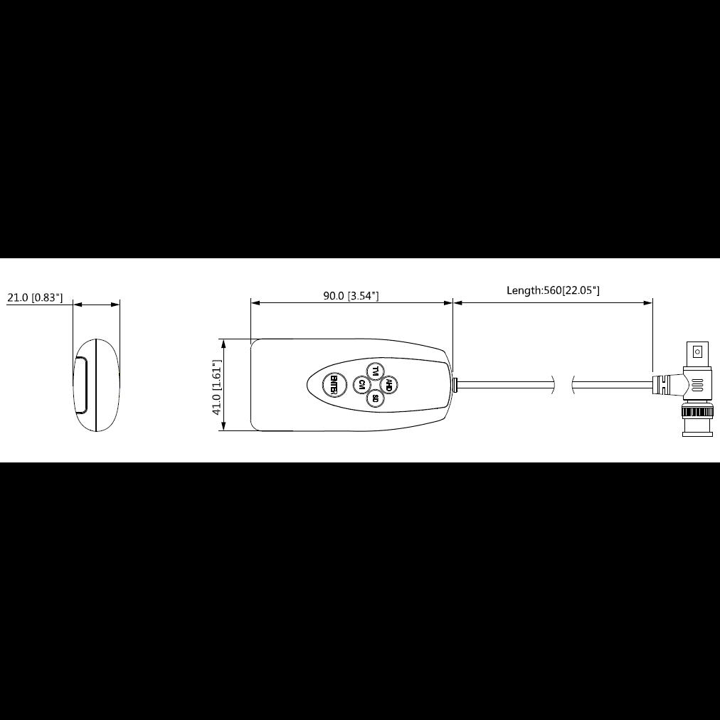 Приемопередатчик HDCVI пассивный DH-PFM800-E, поддержка AHD, TVI, CVBS