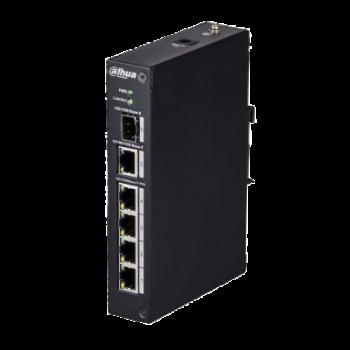 Индустриальный 4-портовый сетевой PoE коммутатор DH-PFS3106-4P-60