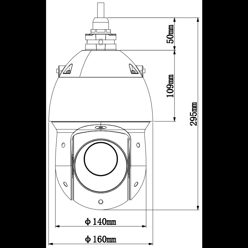 HDCVI камера Dahua DH-SD49225I-HC скоростная PTZ 2 Мп с 25x зумом, Starlight, WDR 120 дБ, 25 к/с@1080p, ИК-подсветка до 100 м, IP66