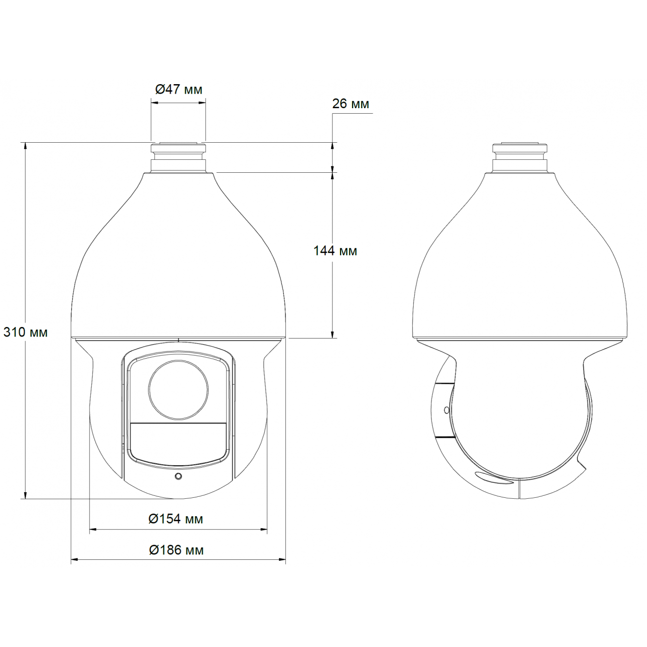 Высокоскоростная купольная PTZ-камера DH-SD59230I-HC 2 Мп 1080P с 30-кратным увеличением и ИК-подсветкой серии HDCVI