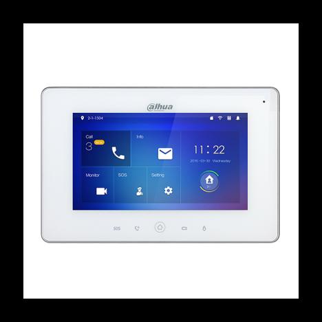 Монитор видеодомофона Wi-Fi Dahua DH-VTH5221DW 7 дюймов, 6 тревожных входов, поддержка PoE, поддержка SD карт