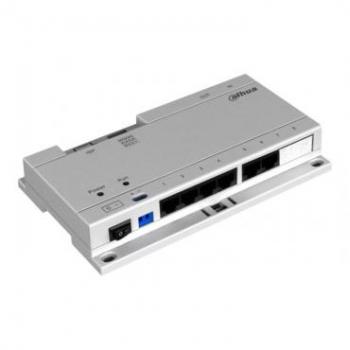 Специализированный POE коммутатор DH-VTNS1060A, питание 6 Dahua устройств, DC 24В, блок питания в комплекте
