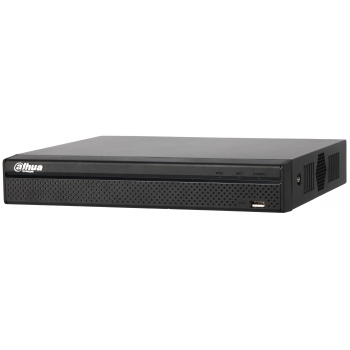 IP Видеорегистратор Dahua DHI-NVR2104HS-P-S2 4-х канальный, 4 порта PoE,до 6 Мп, до 80 Мбит/с, 1 HDD до 6 Тб, аудио вх./вых. 1/1 для интеркома