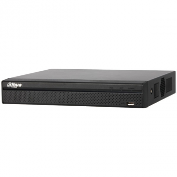 IP Видеорегистратор Dahua DHI-NVR2208-8P-4KS2  8-ми канальный, 4K, 8 PoE портов, до 80Мбит/с, до 8Мп, 2HDD до 6Тб, аудио вх./вых., HDMI, VGA